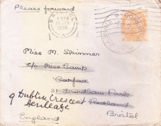 BRITISH INDIA - 1935 AIRMAIL COVER BOOKED FROM DOHNAVUR, TINNEVELLY FOR BRISTOL, ENGLAN VIA VALLIOOR - RARE POST OFFICES - India (...-1947)