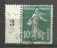 France - F1/238 - Type Semeuse Camée - N°159 Obl. - Millésime 3 - 1906-38 Sower - Cameo