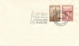 ARGENTINA , BUENOS AIRES - 1961 ,  First Flight  Lufthansa  720 B    Buenos Aires - Frankfurt - Luftpost