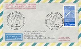 BRASIL , Rio De Janeiro  - 1961 ,  First Flight  Lufthansa  LH 503   Rio De Janeiro - München - Luftpost