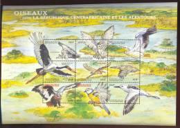CENTRAFRICA   1323**  MINT NEVER HINGED MINI SHEET OF BIRDS   ( - Non Classés