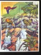 ANTIGUA & BARBUDA   2309 MINT NEVER HINGED MINI SHEET OF BIRDS - Zonder Classificatie
