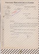 VIEUX PAPIERS /FACTURE GRANDS MOULINS DE LA LOIRE NANTES 1923 - France