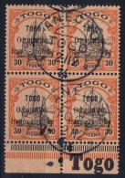 Togo  Französische Besetzung Mi Nr 5 Bogenrand Mit TOGO Signed/ Signé/signiert 4 X  CDS ANECHO - Kolonie: Togo