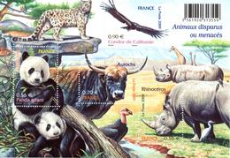 France.bloc No 128 De 2009.animaux Disparus Ou Menacés.n**. - Ongebruikt