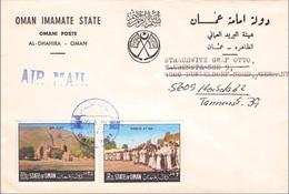 OMAN - AIR MAIL LETTER 1970 -> DÜSSELDORF/GERMANY - Oman
