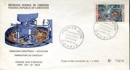 16636 Cameroon, Fdc 1969  Fabrication Du Chocolat, Cocoa,  Cacao Industrial Complex - Alimentación