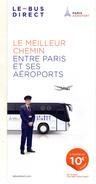 PLAN  LE-BUS DIRECT  Paris Et Ses Aéroports - Europe
