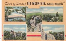 Wisconsin Wausau Views Of Scenic Rib Mountain Curteich - Waukesha
