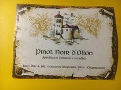 3144 -  Suisse Vaud Pinot Noir D'Ollon - Etiketten