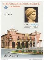 ESPAGNE SPANIEN SPAIN ESPAÑA  2012 EXFILNA CALAHORRA 2.90€ ED 4746 YV 4433 MI 4728 SG MS4726a - Blocs & Feuillets