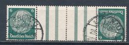 Deutsches Reich Zusammendruck KZ 18 Gestempelt Mi. 80,- - Zusammendrucke