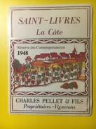 3153 -  Suisse Vaud Saint-Livres La Côte Réserve Des Contemporain(e)s 1948 - Etiquettes
