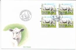 ATM Mi 12 FDC Charolais Charolaise Cattle Cow  - 3 September 2001 - Aland