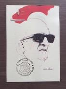 Cartolina Enzo Ferrari, Disegno Nani Tedeschi, Annullo Torneo Int.le Calcio Giovanile Calcio Maranello 4-4-1994 - Grand Prix / F1