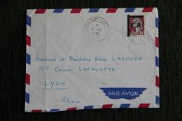 Enveloppe Timbrée, Envoi Par Avion D'ALGER à LYON - Poste Aérienne