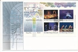 Mi Block 10 FDC / Inauguration Of The Helsinki Opera House Ballet - 8 October 1993 - Finland