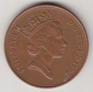 @Y@    2  Pence Groot Brittannië   1996    (4374) - 2 Pence & 2 New Pence