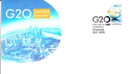 Australia FDC 2014 70c G20 Leaders Summit, Brisbane - Premiers Jours (FDC)