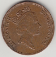 @Y@    2   Pence Groot Brittannië   1991    (4380) - 2 Pence & 2 New Pence