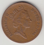 @Y@    2   Pence Groot Brittannië   1986    (4381) - 2 Pence & 2 New Pence