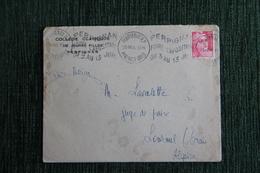 Enveloppe Timbrée Publicitaire - PERPIGNAN , Collège Classique De Jeunes Filles. - Lettres & Documents