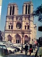 FRANCE PARIS FACADE NOTRE DAME AUTO CAR V1974 FX10485 - Notre Dame De Paris