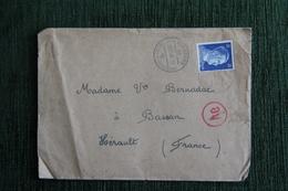Enveloppe Timbrée Avec Lettre De NUREMBERG En Date Du 28 Novembre 1943  Faisant état Des Bombardements En Cours . - Allemagne