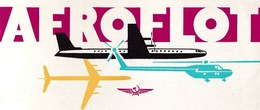 Vintage Soviet Aeroflot Instructions Transportation Rules Manuals Brochures In English - 21x9.5 Cm - Manuals