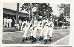 Cambodia, Cambodge, Le Drapeau Des FARK Avec Sa Garde D Honneur, Militaires, Military , Uniforms, Old Photo - Cambodia