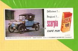 Buvard & Blotting Paper :Café Pur SCARPIA  Modele N°15 Clement Bayard 1912 Constance - Café & Thé
