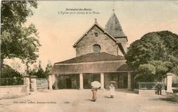 (4) CPA  Sermaize Les Bains Eglise Et La Place  (bon Etat) - Sermaize-les-Bains