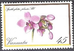Vanuatu 1982 Michel 629 Neuf ** Cote (2005) 1.50 Euro Fleur Orchidée Spathoglottis Plicata - Vanuatu (1980-...)