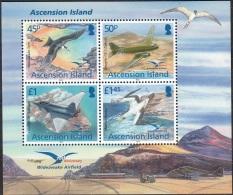 Ascension Island 2012 Bloc Feuillet 75 Ans Aérodrome Militaire De RAF Wideawake Airfield Neuf ** - Ascension (Ile De L')