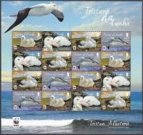 Tristan Da Cunha 2013 Bloc Feuillet WWF Oiseau Albatros Neuf ** - Tristan Da Cunha
