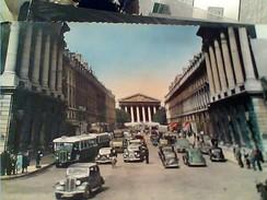 FRANCE PARIS RUE ROYALE AUTOBUS AUTO CAR  V1955 FX10487 - Nahverkehr, Oberirdisch