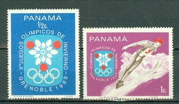 Panama 1968 Yv 469/70**, Mi 1046/47**, Sc 484/85** Olympic Games Grenoble - MNH - Panama