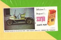 Buvard & Blotting Paper :Café Pur SCARPIA  Modele N°17 Renault 1912 - Café & Thé