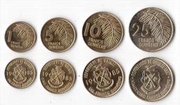 Guinea 4 Coins UNC Set. (inv1084-87) - Guinée