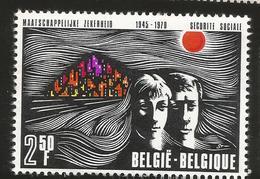J)1970 BELGIUM, SOCIAL SECURITY SISTEM, 25TH ANNIVERSARY MAN, WOMAN AND CITY, SINGLE MNH - Belgium