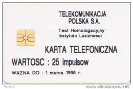 Poland Test Card - 82P G1 - Mint, Unbenutzt, Neuve - Polonia Logo ´moreno´ On 6mm - Poland