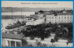 CPA 20 2A CORSE Du Sud - AJACCIO L'Hôtel De Ville, Le Square Et Un Coin Des Quais ° Collection J. Moretti N° 940 * Port - Ajaccio