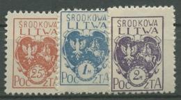 Mittellitauen 1920 Freimarken Wappen 1/3 A Postfrisch Gezähnt - Lithuania