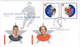 Kanada 2002, Michel# 2030 - 2031 O FDC - Hockey (Ijs)