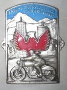 TARGHETTA RICORDO - RADUNO MOTOCICLISTICO - SESTRIERE - 1955 - Motor Bikes