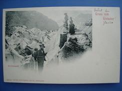 (Suisse, Alpinisme) Grindelwald: Gruss Vom Gletscher, Vers 1900, état LUXE. - BE Berne