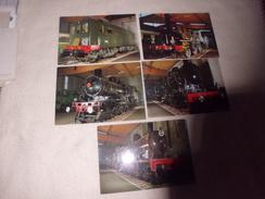 LOT DE 5 CARTES  ..LOCOMOTIVES ...DIFF MODELES - Cartes Postales