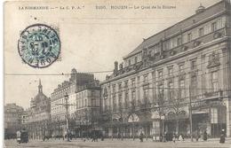 2195. ROUEN . LE QUAI DE LA BOURSE . AFFR SUR RECTO LE 11-3-1907 - Rouen
