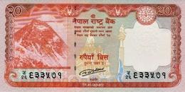 MINT NEPAL TWENTY RUPEES BANKNOTE NEW 2016 UNC - Nepal