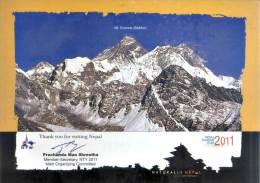 NEPAL TOURISM YEAR 2011 MT.EVEREST COMMEMORATIVE POST CARD NEPAL 2011 MINT - Unclassified
